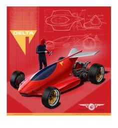 Single Seat Runabout by GaryCampesi on DeviantArt Pirelli Tires, Reverse Trike, Vanz, Pinewood Derby, Futuristic Cars, Car Drawings, Cycling Art, Diy Car, Go Kart