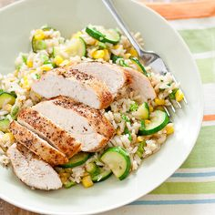 Garden-Fresh Chicken and Rice Recipe - Cooks Country