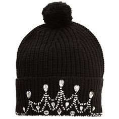 Markus Lupfer Knitted Tiara Beanie ($225) ❤ liked on Polyvore featuring accessories, hats, beanies, hair, women, merino wool hat, pompom hat, pom pom beanie hat, merino hat and pom pom hat