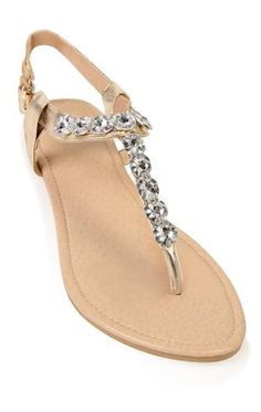 metallic sandal with large stone strap at Deb for $18.00!!