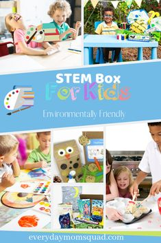 Green Kid Crafts offers subscription services for science, technology and art projects- delivered monthly craft box subscriptions for kids ages Educational Activities For Toddlers, Outdoor Activities For Kids, Sensory Activities, Kids Learning, Green Crafts For Kids, Kid Crafts, Steam Box, Subscriptions For Kids, Kids And Parenting