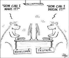 #Developer Vs #tester