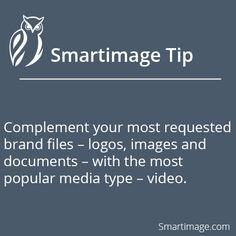 Display videos alongside your top brand files #Smartimage #BrandFiles
