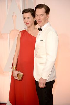 87th Annual Academy Awards - Arrivals Oscar Nominees On The Red Carpet | Benedict Cumberbatch and wife, Sophie Hunter