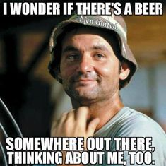 "39 Best Beer Puns And Beer Memes For National Beer Day (And, Well, Every Day) ""I wonder if there's a beer out there thinking about me too? Beer Puns, Beer Memes, Beer Humor, Funny Beer Quotes, Wine Quotes, Funny Sayings, Drunk Quotes, Asshole Quotes, Bar Quotes"