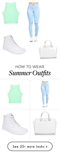 """Summer outfit"" by spohthewhale on Polyvore featuring Vans and Michael Kors"