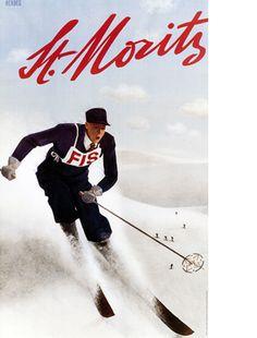 View the portfolio of interior designer Nicky Dobree in London, London Vintage Travel Posters, Vintage Ads, Poster Vintage, Zurich, Switzerland Tourism, St Moritz, Ski Racing, Ski Posters, Zermatt