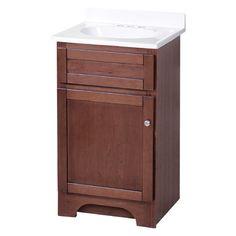 """Hazelwood Home Merlo 19"""" Single Bathroom Vanity Set Base Finish: Cherry"""