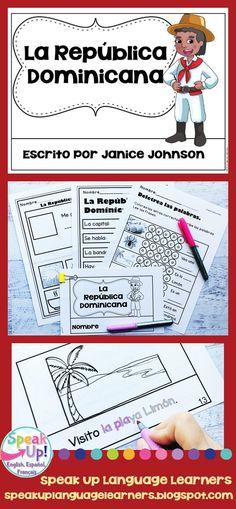 La República Domincana Reader ~ Dominican Republic {en español} & Vocab pages Elementary Spanish, Spanish Classroom, Language Activities, Classroom Activities, Spanish Lessons, Learning Spanish, Dual Language, Foreign Language, French Language