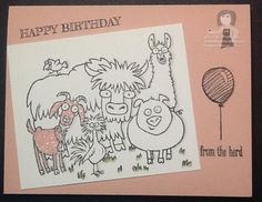 Love From The Herd, and this would make a great baby shower card!