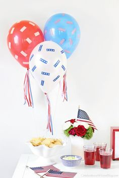 ThisRed, White & Blue Balloons DIY will make your4th of July more festive! Make this easy project for your holiday celebration with instructions here.