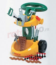 Chariot d'atelier et accessoires - jeu d'imitation Bosch http://www.rotopino.fr/chariot-d-atelier-et-accessoires-jeu-d-imitation-bosch,44659 #jouet #jeu #enfant #rotopino