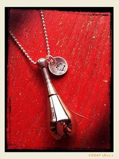 Pet cremation or hair locket urn necklace by Furryandfaithful