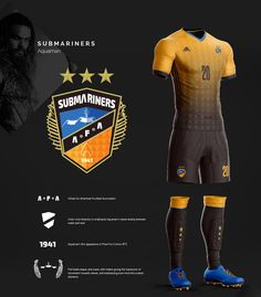 I have always been intrigued by mixing two entirely different worlds into one. Sports and comics; all the effort it takes to visualize them both accurately.In this project, I have tried to make the heroes of the upcoming Justice League Movie, wear their… Soccer Logo, Soccer Gear, Soccer Kits, Buy Basketball, Football Pitch, Football Shirts, Aquaman, Rugby Jersey Design, American Football