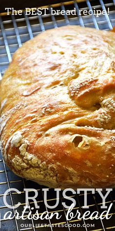 Dutch Oven Crusty Artisan Bread is easy to make and the most delicious homemade bread recipe. Crusty Artisan Style Bread has a wonderfully tangy flavor with a crispy outside and soft, chewy inside. With this NO KNEAD recipe, it's easy to craft homemade bread just like the bakery! This crusty bread recipe is PERFECT for any day of the week, but I especially LOVE to make this bread for holidays like EASTER.  #LTGrecipes #bread #breadrecipe #homemadebread #sourdoughbread #noknead #overnight Loaf Recipes, Quick Bread Recipes, Snack Recipes, Dessert Recipes, Cooking Recipes, Savoury Recipes, Easter Recipes, Scones, Blog Food