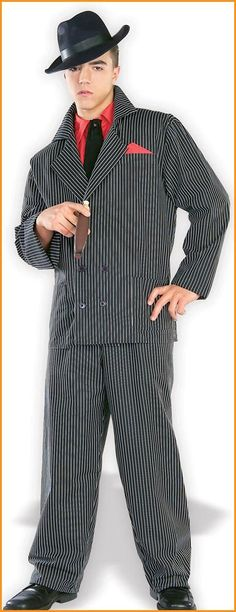 Old Style Gangster Costumes Adult Halloween Costumes for men - couples costumes