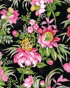 fabri quilt cambridge flannel | eQuilter Cambridge - Grandly Victorian - Black