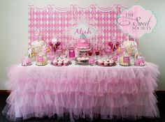 Gorgeous princess dessert table