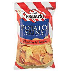 T.G.I. Friday's Cheddar & Bacon Potato Skins Snack Chips, 4.5 oz.