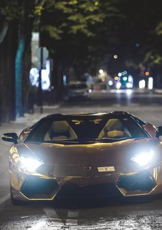 Lamborghini Aventador Gold- @LadyLuxeJewels sports cars