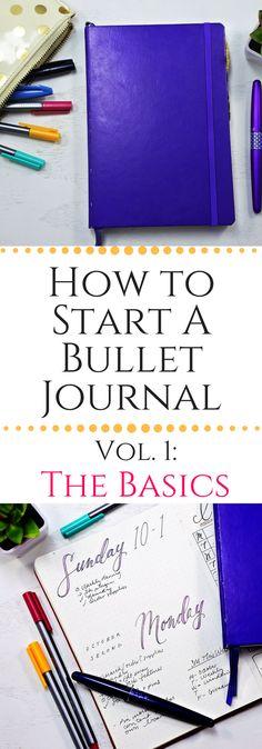Basics of starting a Bullet Journal