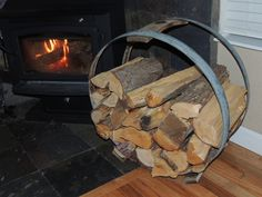 Wine Barrel Hoop Firewood Racks [HFWH101] - $195.00 : Wine Barrel ...