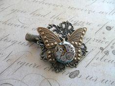 Steampunk Timeless Butterfly Hair Grip £9.00