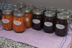 Pickled carrots and pickled beets