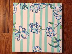 """lilly pulitzer canvas painting 