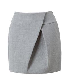 Asymmetric Folded Wool Miniskirt by 3.1 PHILLIP LIM at Browns Fashion for £390.00