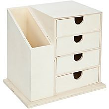 Petite commode avec casier de rangement écru 175 x 125 x 16 cm Diy Storage Boxes, Desk Organization Diy, Diy Desk, Craft Storage, Rangement Makeup, Diy Rangement, Diy Wood Projects, Woodworking Projects, Articles En Bois