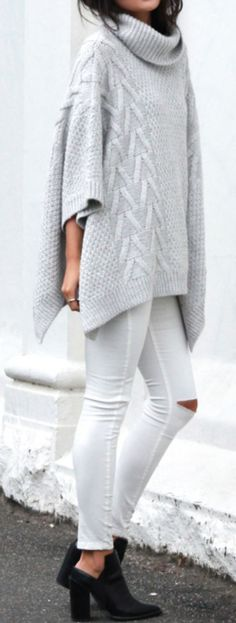 Love this sweater poncho. Cute with a more squared look than most. Good color, fabric and texture