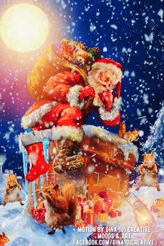 Christmas Scenery, Merry Christmas Wishes, Christmas Art, Christmas Greetings, Vintage Christmas, Beautiful Christmas Pictures, Animated Christmas Pictures, Merry Christmas Pictures, Gif Noel