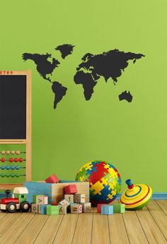 Vasudeva vinyl world pinterest chalkboard vinyl world map chalkboard map of the world chalkboard vinyl large chalkboard decal custom art map world vinyl 40x2125 gumiabroncs Gallery
