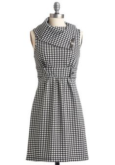 Streetcar Tour Dress in Houndstooth (out of stock) from Mod Cloth