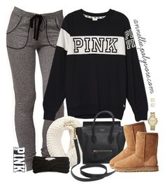 """Untitled #613"" by annellie ❤ liked on Polyvore featuring Forever 21, Victoria's Secret PINK, CÉLINE, UGG Australia, Eugenia Kim, Michael Kors and Juicy Couture"