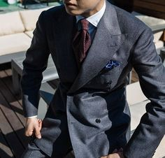 """bntailor: """"Homespun Double Breasted Suit by B&TAILOR in Clissold Vintage Fabric """""""
