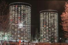 Wolfsburg Tor Parkplätze VW, Niedersachsen, Deutschland
