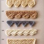 Collection of beautiful patterns for decorating the edge with knitting needles Bamboo Knitting Needles, Lace Knitting, Knitting Stitches, Knitting Patterns Free, Stitch Patterns, Knit Crochet, Crochet Patterns, Knit Edge, Crochet Borders