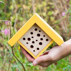 Bee Hotel Mini Bee House Plant Mom Gift for Gardeners Carpenter Bee Trap, Bee Traps, Modern Birdhouses, Bug Hotel, Mason Bees, Bee House, House Gifts, Garden Gifts, Bird Houses