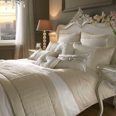 Yarona Oyster Diamant' Embellished Satin Duvet Quilt Cover Bedding Kylie Minogue