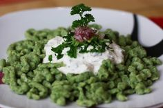 Brokolicové halušky - Powered by Vegetable Recipes, Ham, Side Dishes, Cooking Recipes, Vegan, Baking, Vegetables, Ethnic Recipes, Food