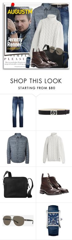 """""""Man of Style: Jeremy Renner"""" by coraline-marie ❤ liked on Polyvore featuring Polaroid, Jack & Jones, Brioni, BOSS Hugo Boss, Woolrich, Hermès, Church's, Armani Exchange, Cartier and men's fashion"""