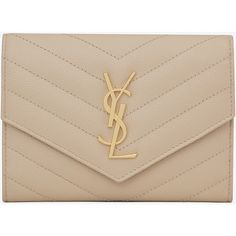 Saint Laurent Monogram Saint Laurent Passport Case (1.350 BRL) ❤ liked on Polyvore featuring bags and luggage