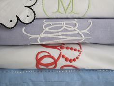 personalized linens for the registry