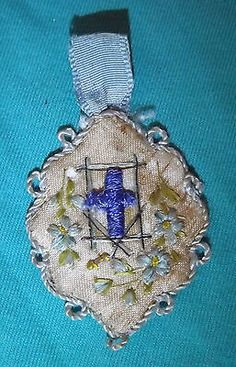 Genuine Beautiful Holy Scapular Holy Cross Hand Embroidery | eBay