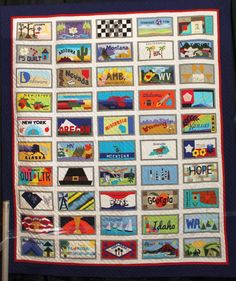 License Plate Quilt, part of Farm to Fabric exhibit hosted by Clothworks