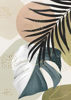 'Monstera Abstract 1 ' Poster by Anita's & Bella's Art  | Displate