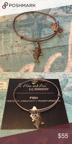 Alex and Ani Retired Fish bangle *On sale today only*Alex and Ani Retired Fish bangle. Very hard to find. Shows gentle wear. Alex & Ani Jewelry Bracelets