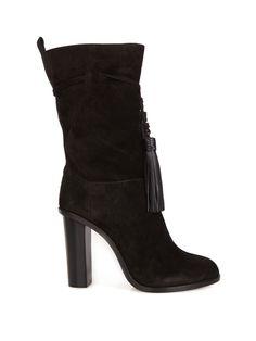 Tassel-tie slouchy suede boots   Lanvin   MATCHESFASHION.COM UK